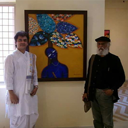 With Jatin Das, 2013